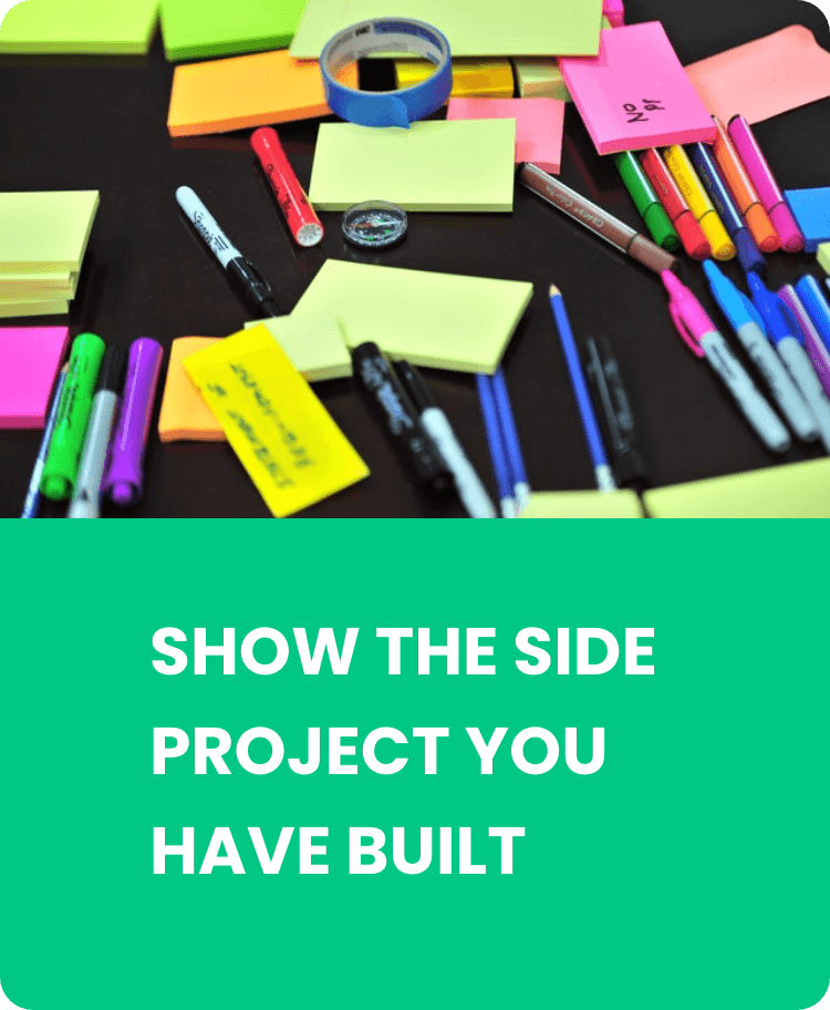 Show the side project you have built